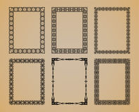 Set of vintage frame. Set of vintage frame for design Stock Photos