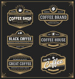 Set of vintage frame design for labels, banner. Sticker and other design. Suitable for coffee, beverage, whiskey, beer and premium product. All type use free Royalty Free Stock Photo