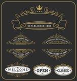 Set of vintage frame and labels design Royalty Free Stock Image