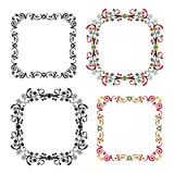 Set of vintage frame pattern Stock Image