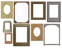 Set of vintage frames stock photo
