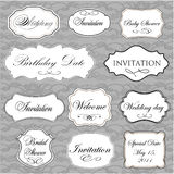 Set of  vintage frames. With lace background Stock Images