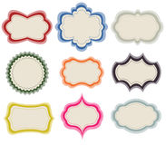 Set of vintage frames. And white background Stock Photo