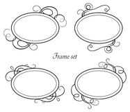 Set of vintage frames. Isolated objects Royalty Free Stock Image