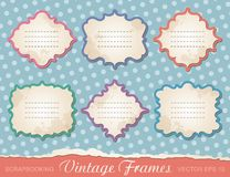 Set of vintage frames Stock Photos