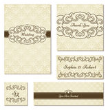 Set of vintage frames Royalty Free Stock Images