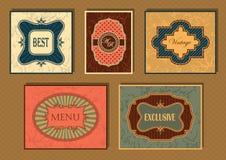 Set of vintage frames Royalty Free Stock Photos