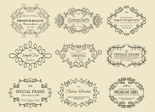 Set of vintage frames Stock Photography