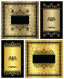 Set of vintage frames Stock Images
