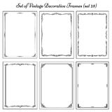 Set of Vintage frames, border. Decorative background with borders and frames Stock Images