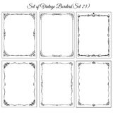 Set of Vintage frames, border. Decorative background with borders and frames Royalty Free Stock Image