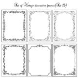 Set of Vintage frames, border. Decorative background with borders and frames Stock Photos