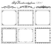 Set of Vintage frames, border. Royalty Free Stock Image