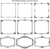 Set of vintage frames and borders Royalty Free Stock Photos