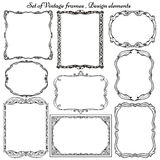 Set of vintage frames and borders Stock Photography