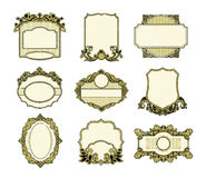 Set of vintage frames design Royalty Free Stock Image