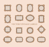 Set of vintage frames and design elements - vector Stock Photo