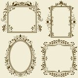 Set of vintage frames with floral ornament Stock Image
