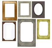 Set of vintage frames isolated on white Stock Photos