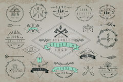 Set of vintage frames and labels Royalty Free Stock Images