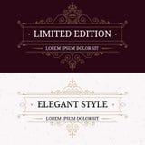 Set of vintage frames for luxury logos stock illustration