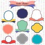 Set of Vintage Frames and Modern Labels. Web Design Vector Stock Images