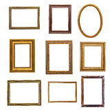 Set of vintage frames in retro style. Isolated on white background Royalty Free Stock Image