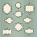 Set of vintage frames Royalty Free Stock Image