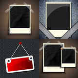 Set of vintage frames for text on abstract Stock Images
