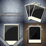 Set of vintage frames for text on abstract Royalty Free Stock Photo