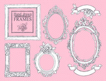 Set of vintage frames. Stock Images
