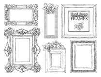 Set of vintage frames. Royalty Free Stock Photos