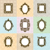 Set of vintage frames Royalty Free Stock Photos