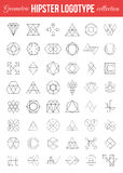 Set of vintage geometric Hipster retro labels Stock Photography