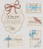 Set of vintage gift bows. Stock Photo