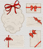 Set of vintage gift bows. Royalty Free Stock Images