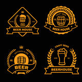 Set of vintage gold badge, logo and design Royalty Free Stock Photos