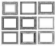 Set 9 of vintage gold - gray frame isolated on white background. Set 9 of vintage gold - gray frame isolated on white background Stock Image