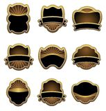 Set of vintage gold labels stock illustration