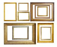Set of  Vintage gold picture  borders Stock Photos