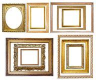 Set of  Vintage gold picture frame Royalty Free Stock Photography
