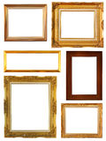 Set of Vintage gold picture frame Royalty Free Stock Image