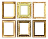 Set of vintage golden frame with blank space Stock Photo
