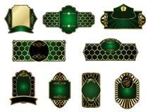 Set of vintage golden labels Stock Image