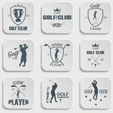 Set of vintage golf labels Stock Photography