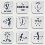 Set of vintage golf labels Stock Photography