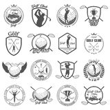 Set of vintage golf labels, badges Royalty Free Stock Photo