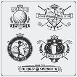 Set of vintage golf labels, badges, emblems and design elements. Stock Image