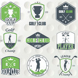Set of vintage golf labels, badges and emblems Royalty Free Stock Photos