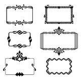 Set of vintage graphic frames Royalty Free Stock Photography